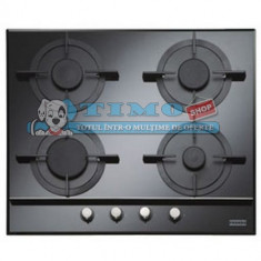 Plita Gaz Incorporabila Crystal Black FHCR 604 4G BK C Franke - Plita incorporabila Franke, Negru, Numar arzatoare: 4