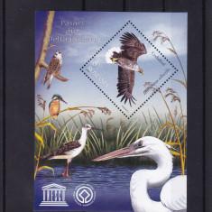 ROMANIA 2009, LP 1828, PASARI DIN DELTA DUNARII BLOC MNH - Timbre Romania, Nestampilat