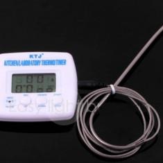 Termometru Digital, pentru bucatarie cu Tija  Si Temporizator