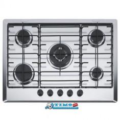 Plita Gaz Incorporabila Multi Cooking 700 - 5 Arzatoare FHM 705 4G TC XS E Inox Satinat Franke - Plita incorporabila Franke, Argintiu, Numar arzatoare: 5
