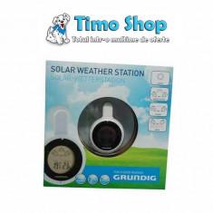 Statie meteo solara cu ventuza Grundig WTST-IND-SOL-GR