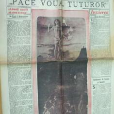 Timpul Pasti 9 aprilie 1939 Ciucurencu Bacalu M. Patrascu caricatura cinema - Ziar