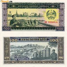 LAOS 100 kip ND 1979 UNC!!! - bancnota asia