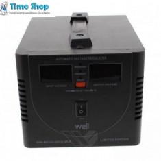 Stabilizator automat de tensiune cu releu 500VA, Well AVR-REL02-500VA-WLE - Stabilizator tensiune