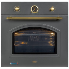 Cuptor incorporabil rustic Beko OIM27201A, Multifunctional, 71 L, 8 Functii, Clasa A, 3D cooking, Grill, Antracit, A, Electric