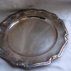 Tava mare din alpacca argintata cu diametrul de 30 cm