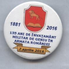 INSIGNA MILITARA - GENIU 1881-2016, Europa