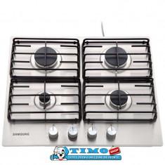 Plita incorporabila Samsung NA64H3110AS, Argintiu, Numar arzatoare: 4, Gaz