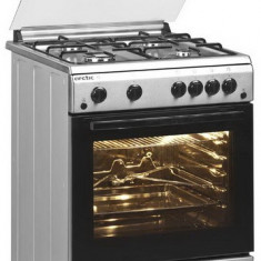 Aragaz Arctic AG 6612DTTLX, timer, aprindere electrica, Inox, 4 arzatoare, grill, rotisor, 60 cm