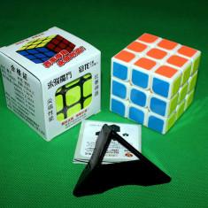 Cub Rubik 3x3x3 -Brand YongJun GuanLong + Stand pentru cub - Jocuri Logica si inteligenta
