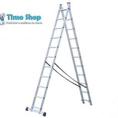 Scara aluminiu cu 2 trosoane 2X 11 I Elkop - Scara/Schela constructii