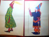 8 Desene in acuarela -Uniforme si Costume din Boccacio -autor pictor Dan Pandele