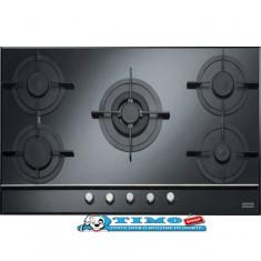 Plita Gaz Incorporabila Crystal Black FHCR 905 4G TC BK C Franke - Plita incorporabila Franke, Negru, Numar arzatoare: 5