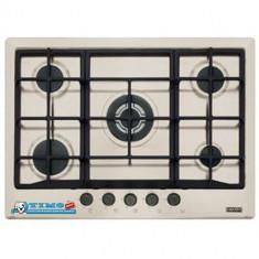 Plita Gaz Incorporabila Multi Cooking 700 - 5 Arzatoare FHM 705 4G TC SH C Sahara Franke - Plita incorporabila Franke, Crem, Numar arzatoare: 5