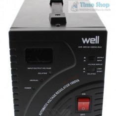 Stabilizator automat de tensiune cu servo motor 1000VA, Well - Stabilizator tensiune