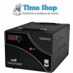 Stabilizator automat de tensiune 10000VA Well AVR-SRV-10KVA-WL - Stabilizator tensiune