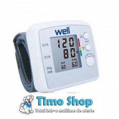 Tensiometru digital cu afisaj LCD BLDP-WRST-02-WL Well - Aparat monitorizare