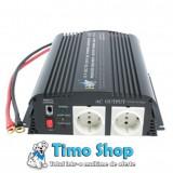 Invertor de tensiune 1000w 12v-230v HQ-INV1KW/12