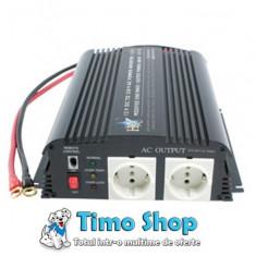 Invertor de tensiune 1000w 12v-230v HQ-INV1KW/12 - Invertor curent
