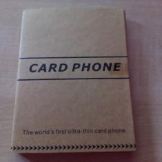 Mini Telefon AIEK Q1(cel mai mic si subtire telefon ca un card bancar!), NOU, Negru, <1GB, Neblocat, Single SIM, Fara procesor