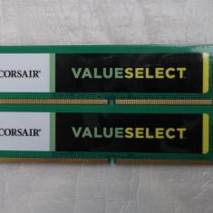 Kit 4gb Corsair Value Select 4GB DDR3 1333MHz CL9 Dual Channel Kit - Memorie RAM