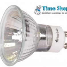 Bec halogen GU10, putere: 220V/35W cu geam, Becuri cu halogen