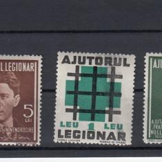 ROMANIA 1940, AJUTORUL LEGIONAR, SERIE MNH, LOT 1 RO - Timbre Romania, Nestampilat