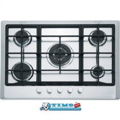 Plita Gaz Incorporabila Multi Cooking 700 - 5 Arzatoare FHM 705 4G TC XS C Inox - Plita incorporabila Franke, Argintiu, Numar arzatoare: 5