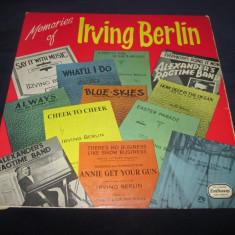 Irving Berlin - Memories Of Irving Berlin _ vinyl(LP) UK - Muzica Pop Altele, VINIL