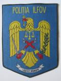 EMBLEMA TEXTILA MARE:115 X 88 MM,POLITIA ILFOV