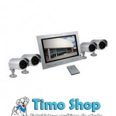 Sistem supraveghere monitor + 4 camere video Konig SEC-UNIT30 - Camera spion
