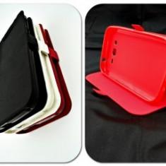 Husa FlipCover Stand Magnet Orange Roya Rosu - Husa Telefon Orange, Plastic, Cu clapeta