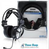Casti cu microfon, reglaj volum, 2x3.5mm jack Konig CMP-HEADSET170 - Casca PC