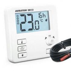 Termostat pentru incalzire prin pardoseala Auraton 3013 P, 0 – 45°C, 16A, LCD