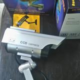 set 2 buc camera falsa incarcare solara supraveghere video NOI intimideaza hotii