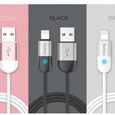 Cablu 8 Pin Lightning iPhone 5 5C 5S 6 6S 6/6S Plus YB-417 Rose Gold Yoobao 1m - Cablu de date Yoobao, iPhone 6