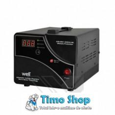 Stabilizator automat de tensiune cu servo motor 500VA/300W Well - Stabilizator tensiune