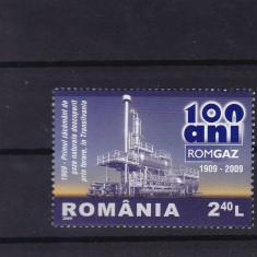 ROMANIA 2009, LP 1831, ROMGAZ SERIE MNH - Timbre Romania, Nestampilat