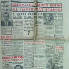 Romania 28 februarie 1939 Gusti strajeri Cornateanu Cluj Colan Simu caricatura - Ziar