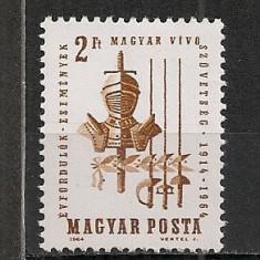 Ungaria.1964 50 ani Asociatiile de scrima PS.28 - Timbre straine, Nestampilat