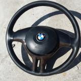 Volan piele sport 3 spite BMW E46 cu airbag