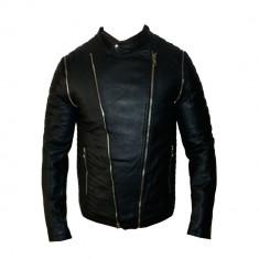 Geaca Barbati Zara David Beckham Office Casual Imblanita Cod Produs 9155, Marime: XL, Culoare: Negru, Piele