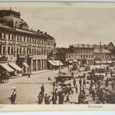 Carte postala veche Ploesti / Ploiesti Primaria/ Rathaus - interbelica - Carte Postala Muntenia dupa 1918, Necirculata, Fotografie