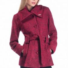Palton Anamaria - Corai - Palton dama Raspberry, Marime: 42, 40, 36
