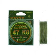 FIR TEXTIL HAKUYO MAXXX CAMOUFLAGE 0, 25mm - ROLA 100 METRI REZISTENTA 39 KG - Fir Pescuit
