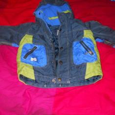 Geaca bleumarin cu gluga, grosuta de toamna iarna pentru copil 2-3 ani, Marime: Alta, Unisex