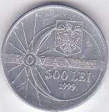 Moneda Romania 500 Lei 1999 - KM#146 XF+ (comemorativa - eclipsa de soare)