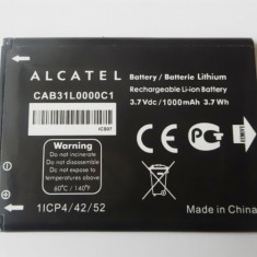 Acumulator Alcatel i808 / TCL T66 A890 1300mAh cod CAB31L0000C1 nou original, Li-ion