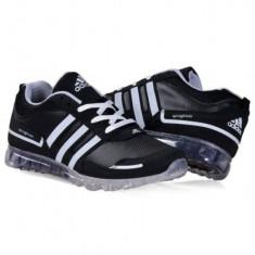 Adidas SpringBlade - Adidasi barbati, Marime: 40, 41, 42, 43, 44, Culoare: Negru, Piele sintetica