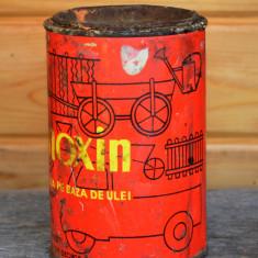 Cutie veche de colectie vopsea pe baza de ulei LINOXIN -1000gr. - anii '60 - Cutie Reclama
